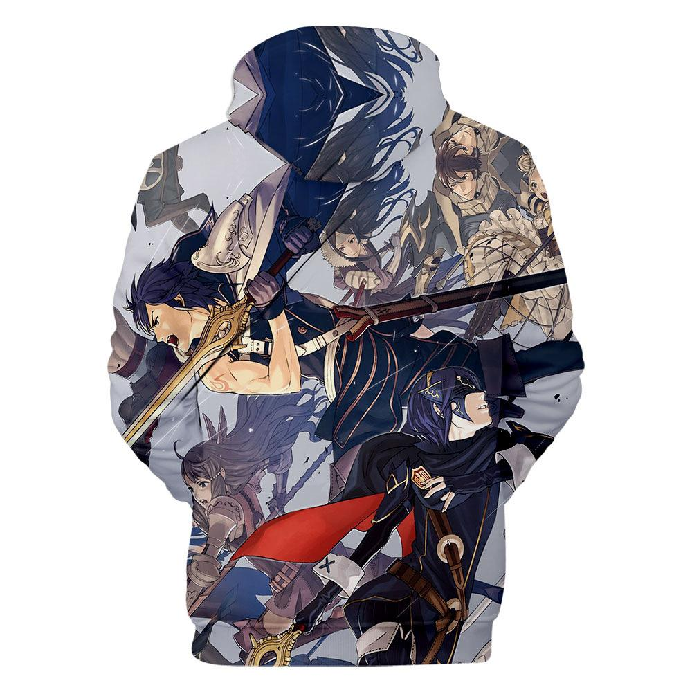 Fashion-Fire Emblem 3D Printed Designer Hoodie Mens Clothes Spring Autumn Hooded Causal Teenager Pullovers Sweatshirts