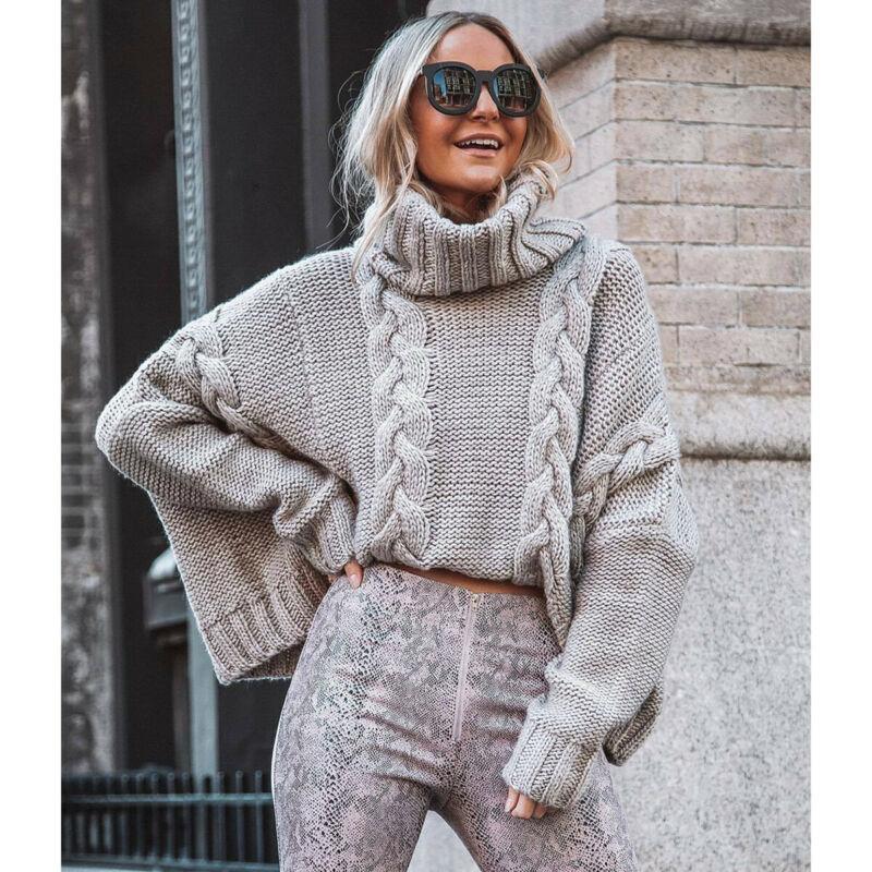 Suéteres de mujer Otoño Invierno Mujeres Cuna Rollo de punto Turtimeneck Suéter Soft Casual Jumper Moda Slim Streetwear Elasticity Top