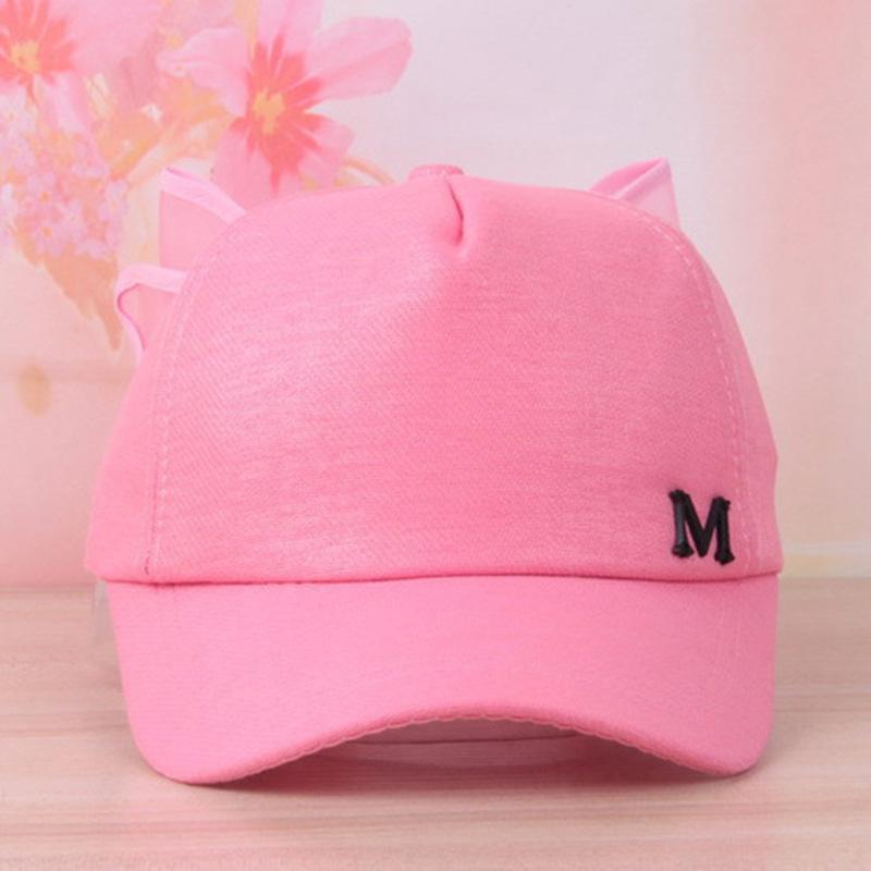 Children Big Bowknot Baseball Cap Pure Color Cotton Bow Caps Visor Girs Sun Hat Spring Summer