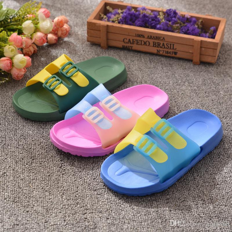 Mode Kinder Hausschuhe Sommer Jungen und Mädchen Komfortable Soft Bottom Anti Skid Indoor-und Outdoor-Hausschuhe