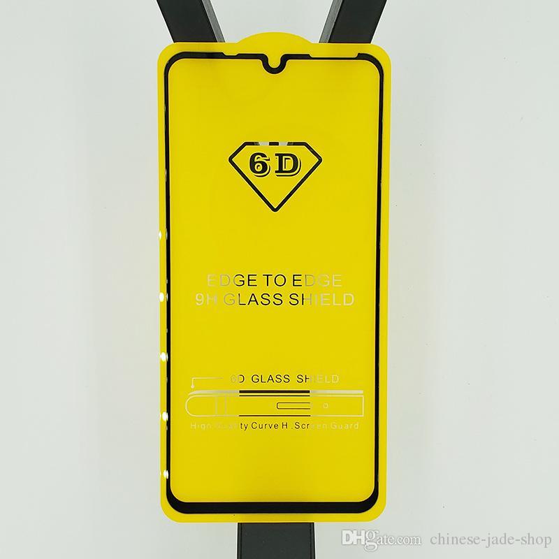 Protecteur d'écran en verre trempé Full Cover 6D 9D AB Glue Bord à Bord POUR Huawei Honor 10 Lite 2019 Mate 20 Lite P30 P30 LITE Honor V20 100P