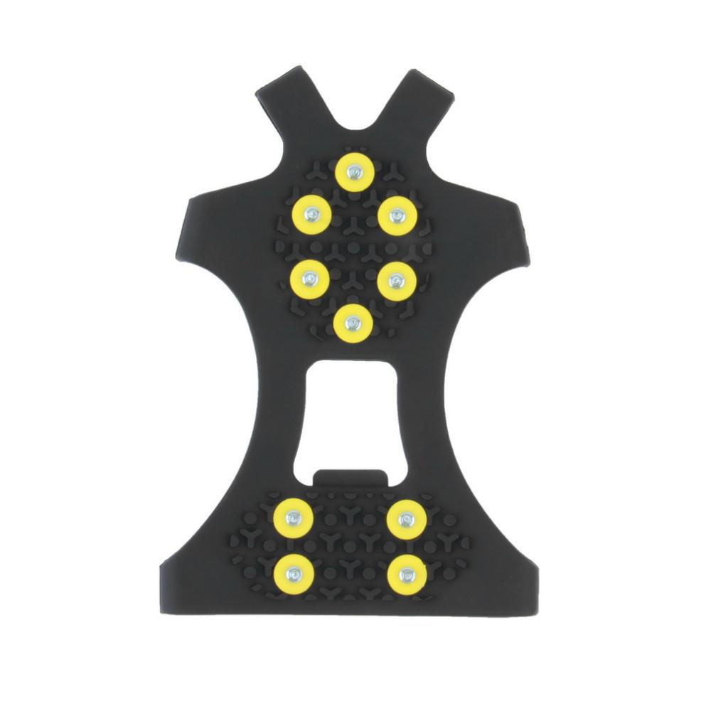 10 Studs Anti-skid Ice Crampons Snow Shoe Spikes Thermoplastic Elastomer Climbing Grips Cleats Over Shoes Covers