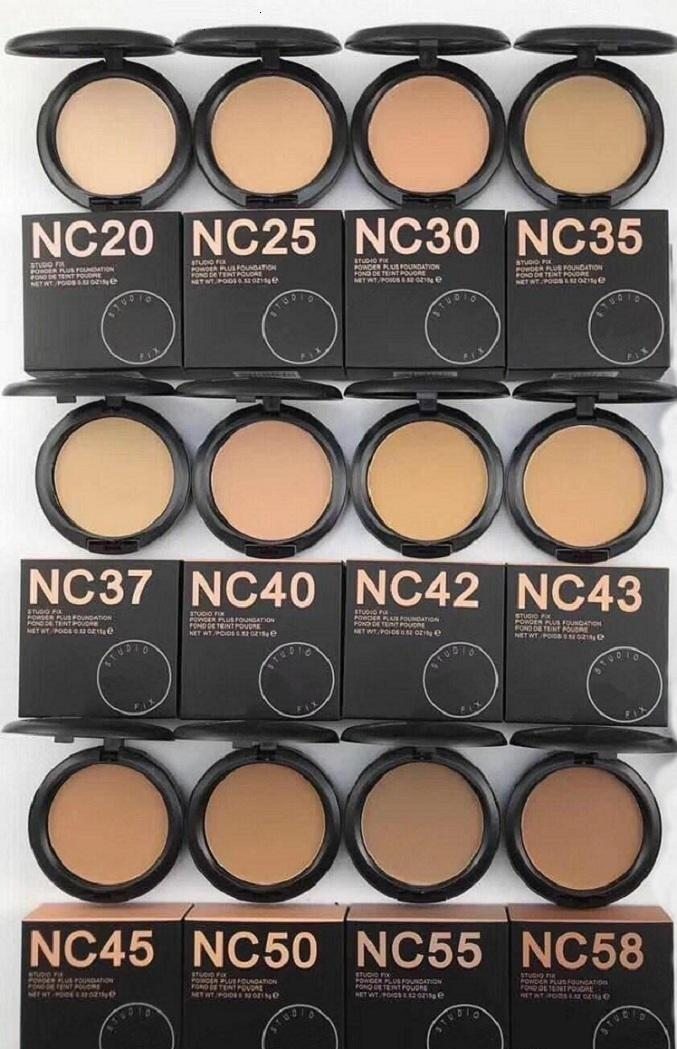 in stockl New hot makeup powder High quality NC 12 color STUDIU FIX Powders puffs foundation 15g