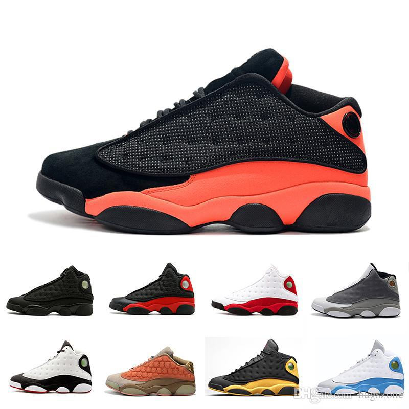 Drop shipping XIII 13s Atmosphere Grey Cap and Gown 13 Men Basketball Shoes Phantom Black Infrared Terracotta Blush Sports Sneakers