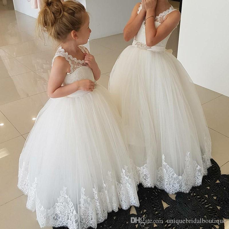 Lace Flower Girl Dresses Bridesmaid For Wedding Party First Communion Dress AAA