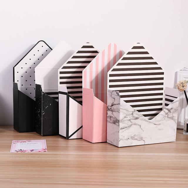 Creative Paper Box Umweltfreundlich Weiß Pappumschlag Blumen Folding Blumen Rose Seifen-Blumen-Geschenk-Kasten-Verpackung Wedding Supplies XD23128