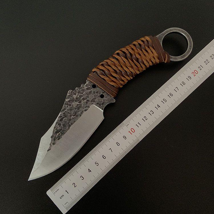 야외 칼 자기 방어 특공 전술 나이프 바이 야생 생존 작은 직선 나이프 날카로운 가장자리 세이버