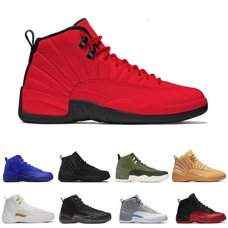 12 air Chaussures de basket-Bordeaux Hommes Femmes Bordeaux 12s hiberné TAXI Black Suede éliminatoire NYCSports les baskets rétro Baskets sport