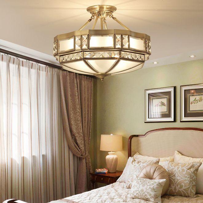 Nuevo diseño de lujo superficie europea lámparas de techo de cobre montado lámparas LED de luces de techo de interior para la entrada pasillo dormitorio balcón