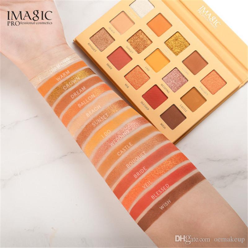 IMAGIC 15 Earth Colour Matte Eyeshadow Palette Pigments Makeup Shimmer Eye Shadow Powder Contour Cosmetic Set