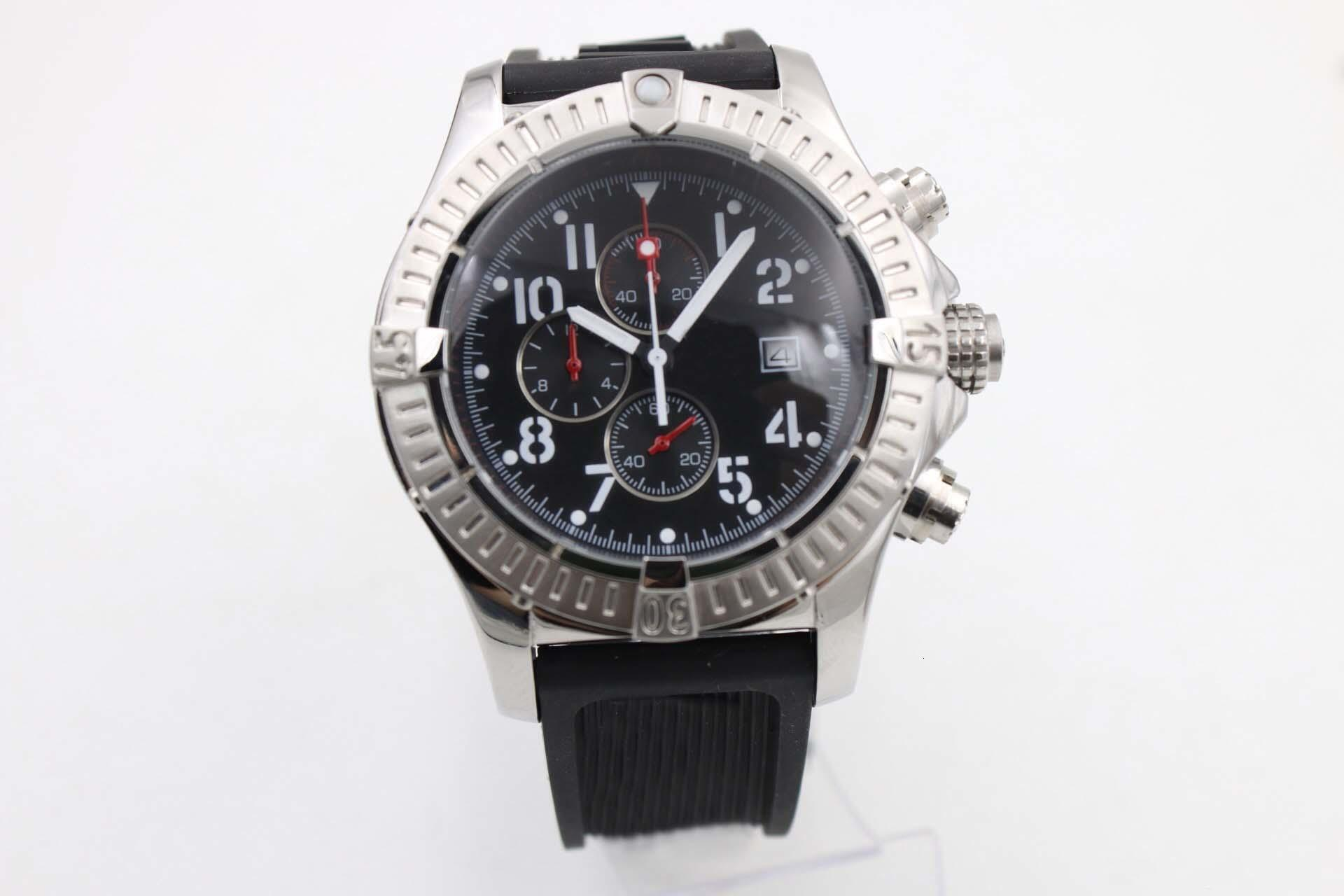 2020 고품질 오래된 브랜드 남성 시계 미군 시리즈 A1338012 / F548 (다이버 프로 깊은 잠재 고무 스트랩) 석영 크로노 그래프 시계 다이빙 워싱턴
