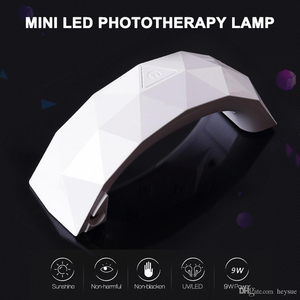 Portable Rainbow Shape Mini USB 9W Nail Dryer LED UV Lamp Phototherapy Machine Curing Gel Dual Light Source Manicure Tools
