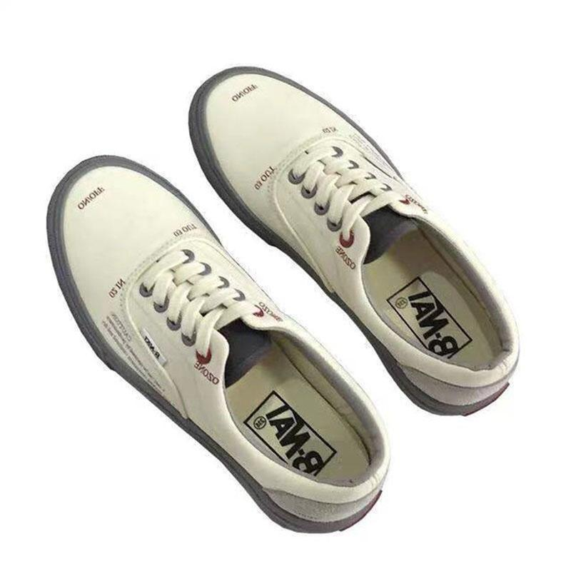 Spring And Fall Student Canvas Shoes Couple Wild Letter Simple Transparent Low Cut Women Casual Shoes