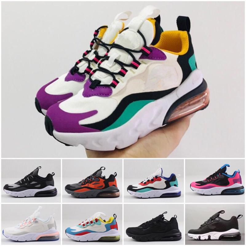 Nike air max 270 2020 bambini pattini atletici dei bambini tn scarpe da basket lupo grigio del bambino Sport Sneakers per il ragazzo della neonata Chaussures Pour Enfant