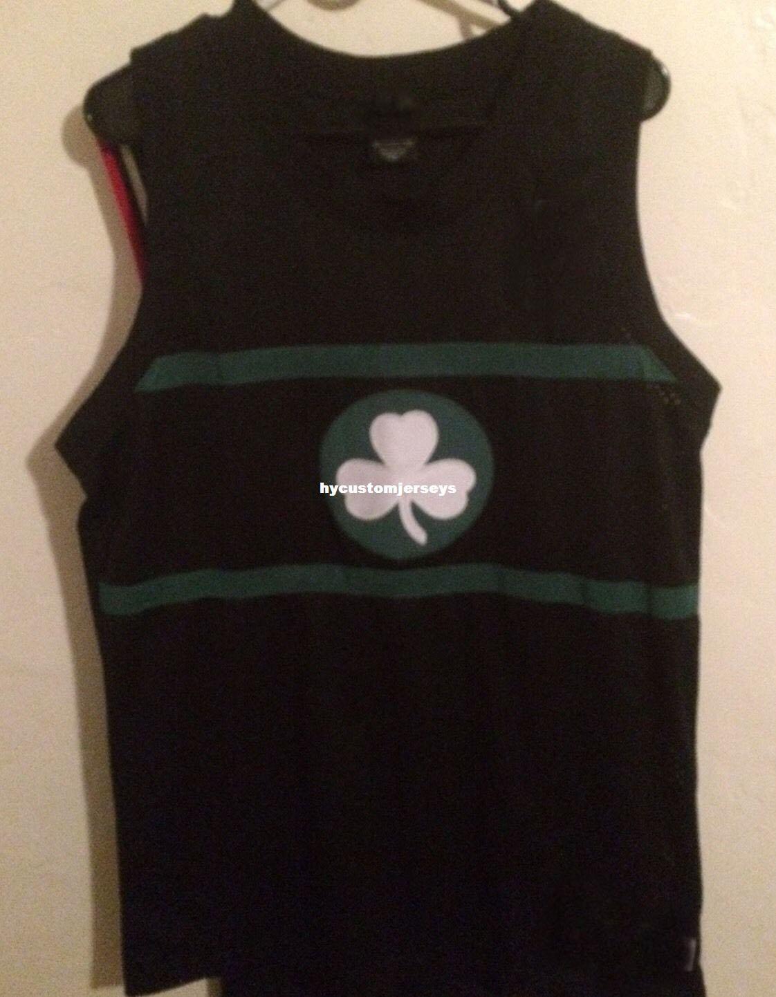 Baratos por atacado Paul Pierce nk Costurado Jersey # 34 Rebobinar Homens T-shirt Preta colete Costurado Basquete jerseys Ncaa
