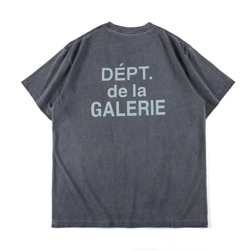 2020 Marca de marea Europa y América para hombre diseñador de la camiseta galerías renacentistas Vintage Washed simples de manga corta floja ocasional Carta Ins