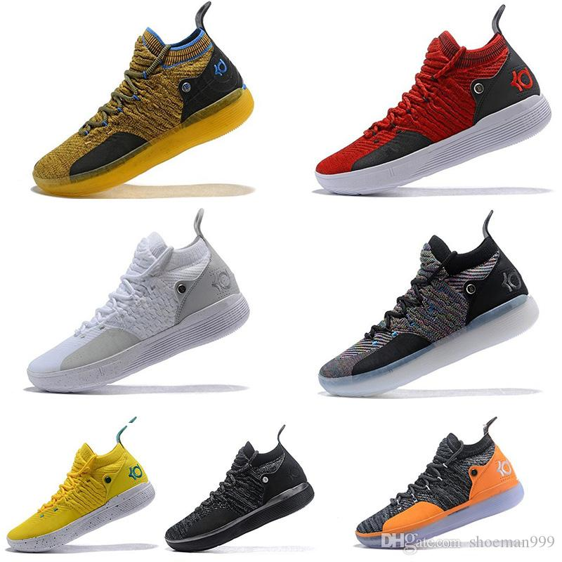 "2019 New Arrival KD 11 ""EYBL"" Mens Shoes, Top Quality React ZOOM KD11 EP Athletic Sport Sneakers AO2604-600 Eur Size 40-46"
