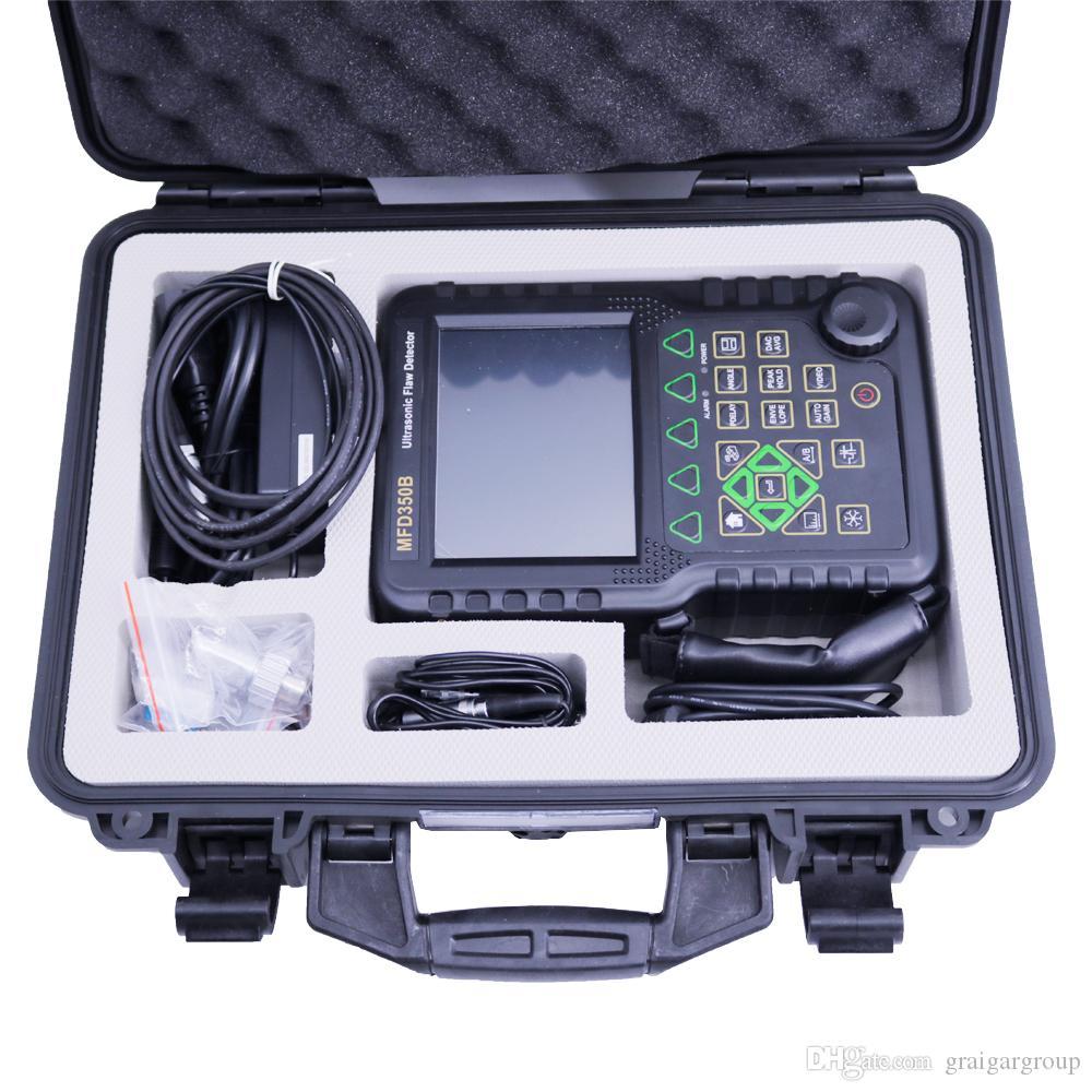 Nouveau portable à ultrasons Détecteur MFD350B NDT Flaw avec des sondes supplémentaires et câbles Bande passante: (0,5 ~ 10) MHz