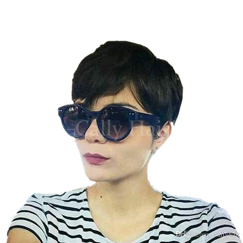 Birmano capelli economici peruviano nessuna parrucche di pizzo all'ingrosso parrucche brevi umani migliori capelli parrucca corta parrucche pixie taglio per le donne nere