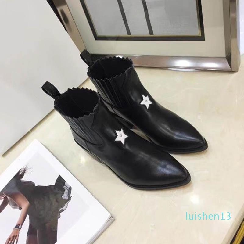botas novas high-end, exibição de luxo high-end, artefato modismo de moda com alta 5.5CM Preto Tamanho 35-40 + Caixa L13
