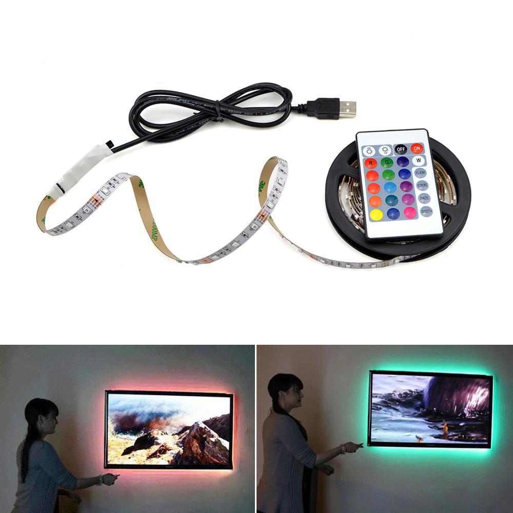 1m 2m 3m 4m 5m Led Light Para Cozinha Lâmpada IP65 impermeável Rgb Luz para armário Roupeiro gabinete de TV fundo Decor Lighting