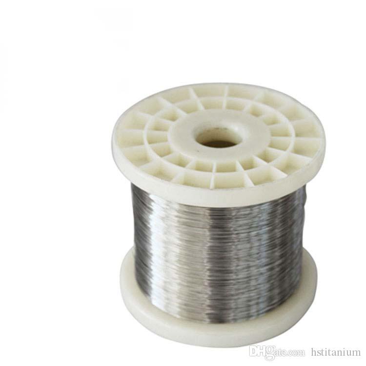 Satılık yüksek Kaliteli Titanyum Bobin Teli titanyum filament 0.1mm 0.2mm sanayi için titanyum kaynak teli