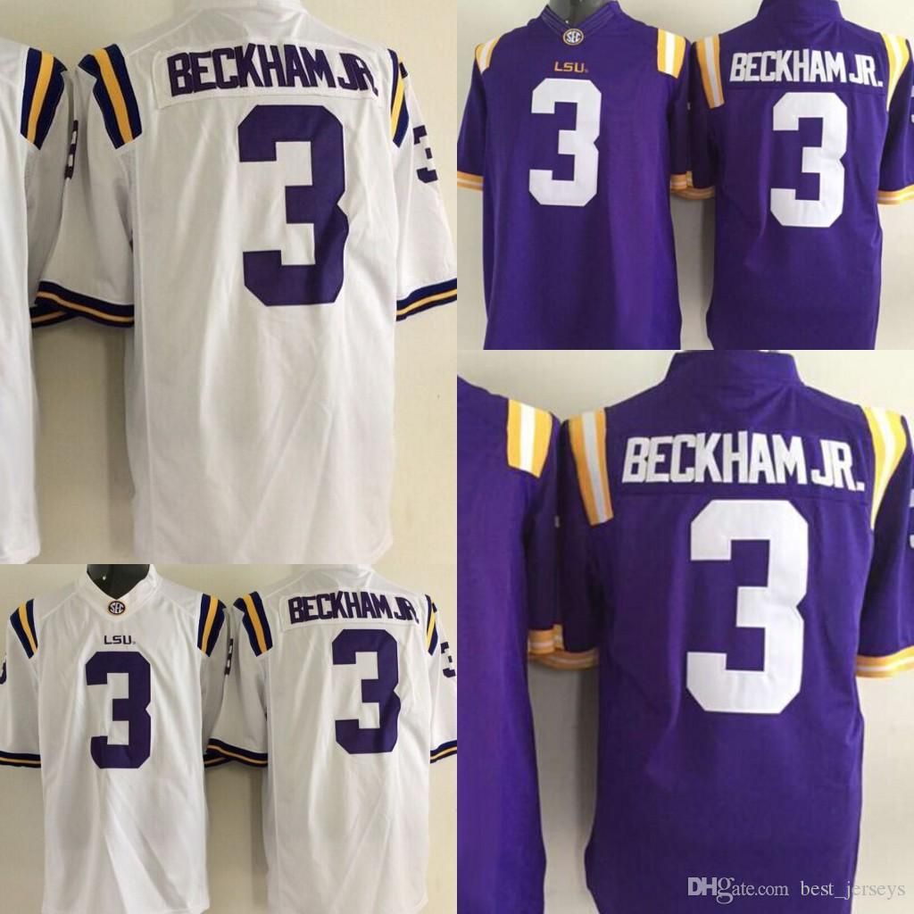 get cheap 8a06d 66e38 2019 Youth College LSU Tigers 3 Odell Beckham Jr. Jersey Purple White Color  Stitched Football Jersey From Best_jerseys, $17.77 | DHgate.Com