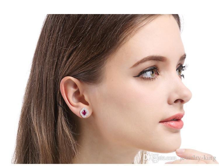 Sevgililer Günü hediyesi kadın S925 gümüş küpe bayan yaratıcı kulak damızlık earbobs fabrika suppli küpe SS925