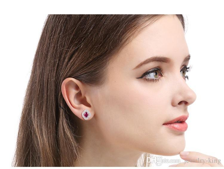 Valentine's day gift women's S925 sterling silver stud earrings SS925 earring lady's creative ear stud earbobs factory suppli