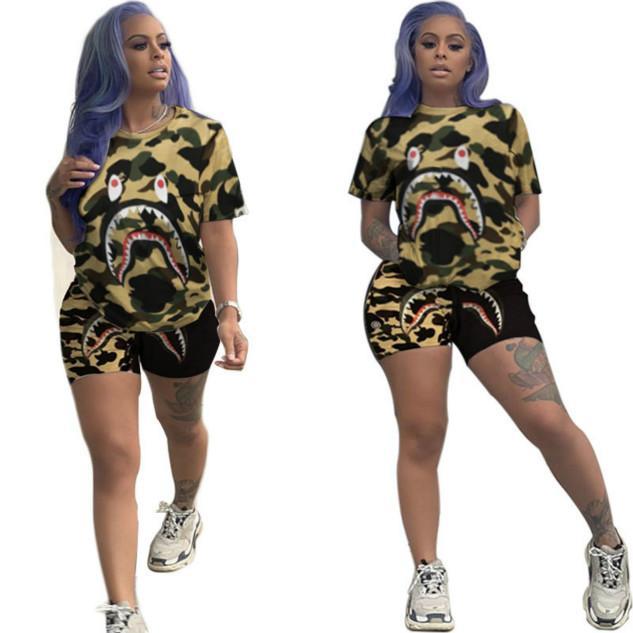 Mulher Designer de luxo Treino Fashion Trend Rua Hipster Imprimir duas peças Feminino Sportsuit Tamanho S-2XL Top Quality Atacado