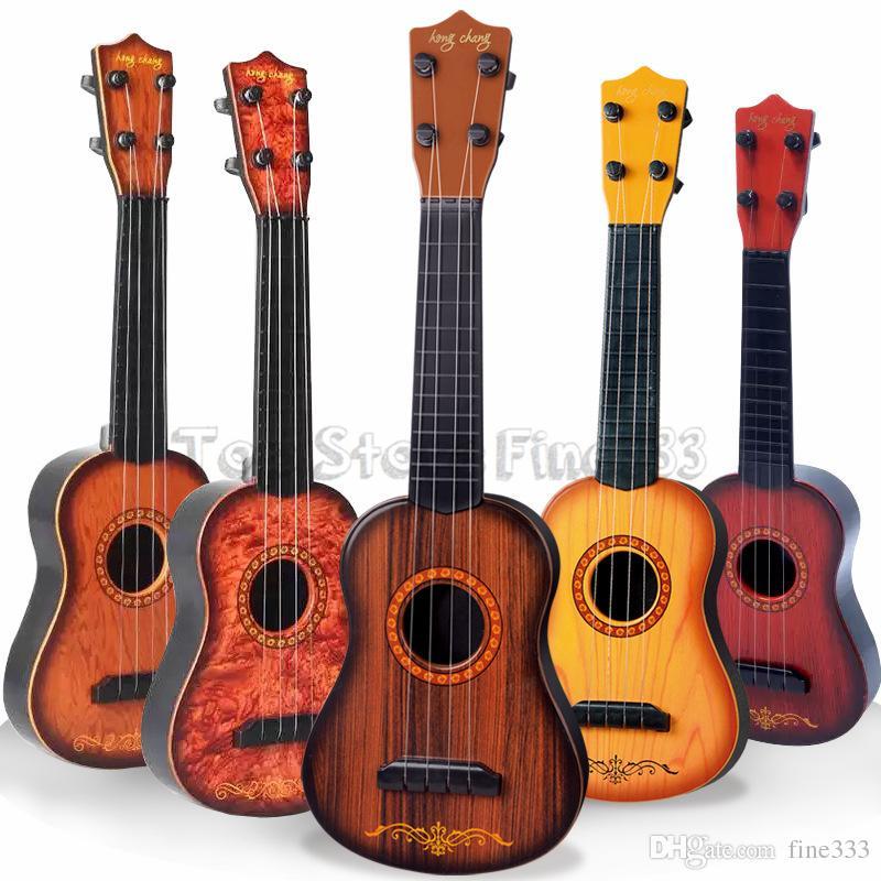Mini 16 inç Acemi Klasik Güvenli basit Ukulele Gitar 4 Strings Eğitim Müzikal Konser Enstrüman Oyuncak Çocuklar için Noel Hediyesi