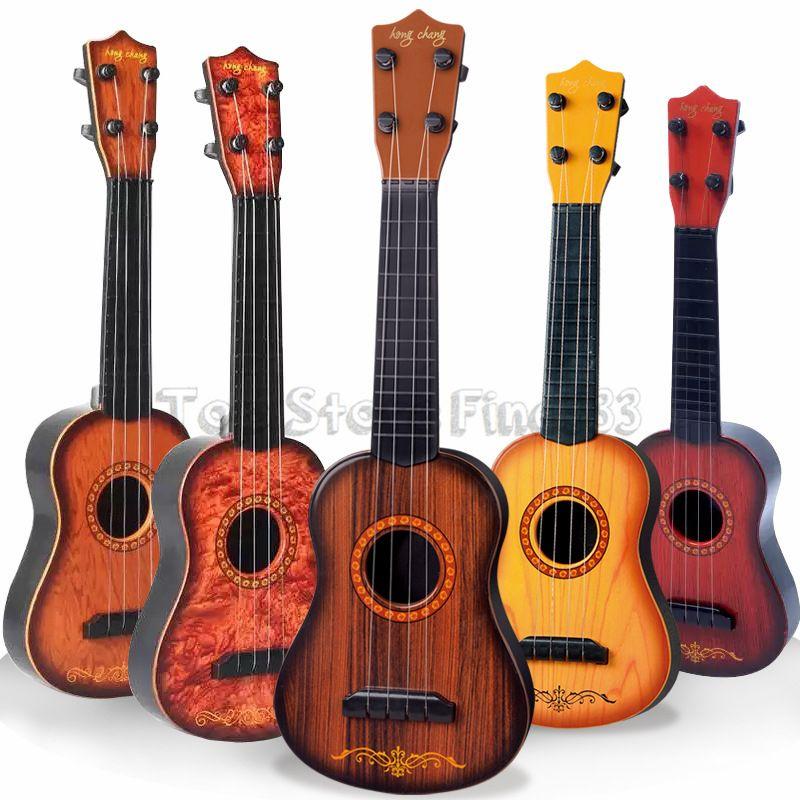 미니 16inches 초급 클래식 안전 간단한 우쿨렐레 기타 4 현 교육 어린이를위한 음악 콘서트 악기 장난감 크리스마스 선물