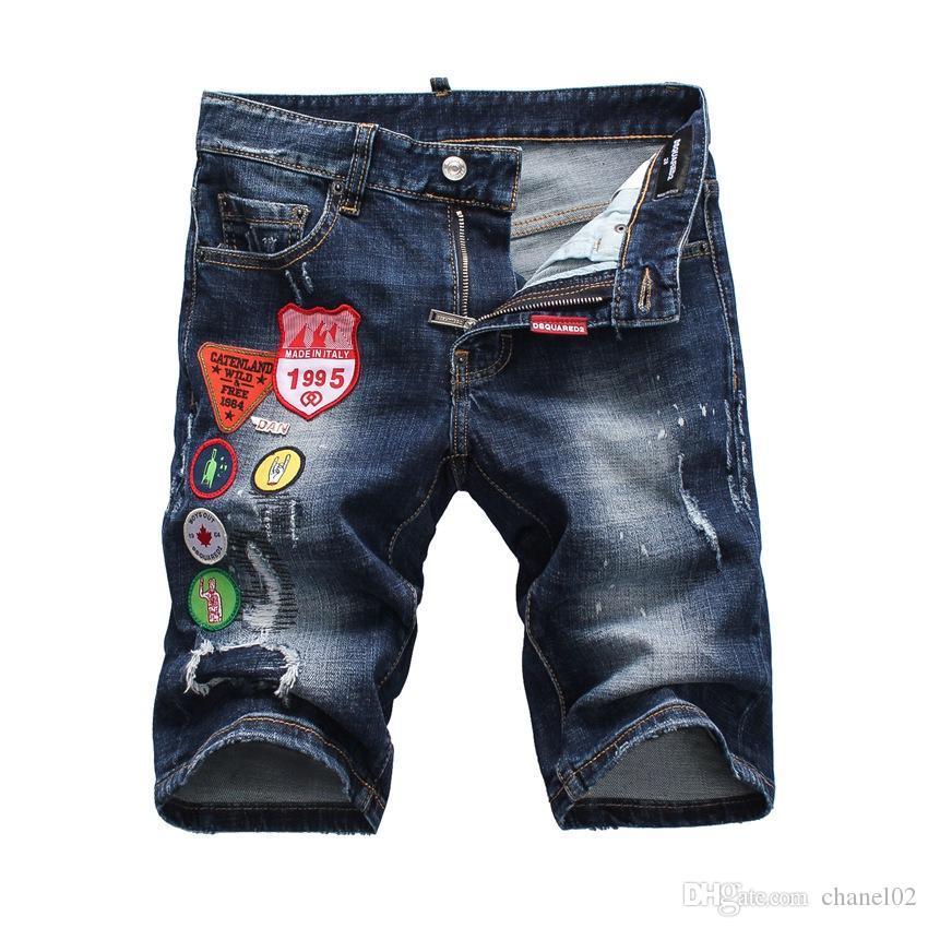 2019 Nuovi jeans da uomo di marca per pantaloncini di jeans skinny di alta qualità pantaloncini strappati di moda Jeans da uomo firmati jeans s5