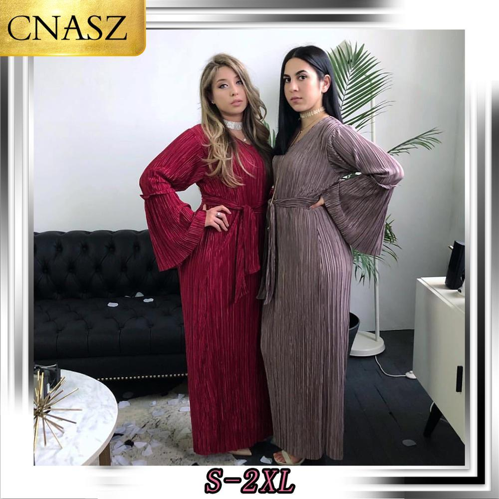 2019 Мода Новой Мусульманский Абай исламского платье с длинным рукавом Турецкой одежды для женщин bokep Индонесии марокканского кафтана
