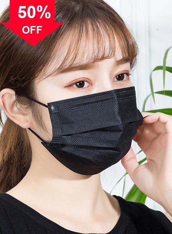J08BF descartáveis de 3 camadas Dustproof Boca Anti PM2.5 Cuidados Segurança Elastic homens e mulheres ppe Máscaras máscara
