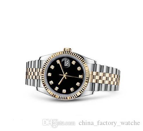 2020 Women Watch Lady Taille 26mm Date de fille saphir verre montres bracelet Mouvement mécanique automatique