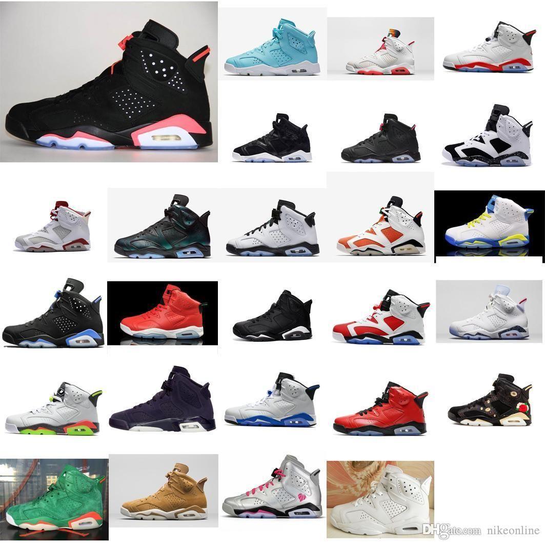 Ucuz Jumpman J6 satılık kutusu ile hava uçaklarınızın spor ayakkabıları botlar 6s AJ6 Siyah 3M erkek kız gençlik çocukları kızılötesi 6 VI basketbol ayakkabıları womens