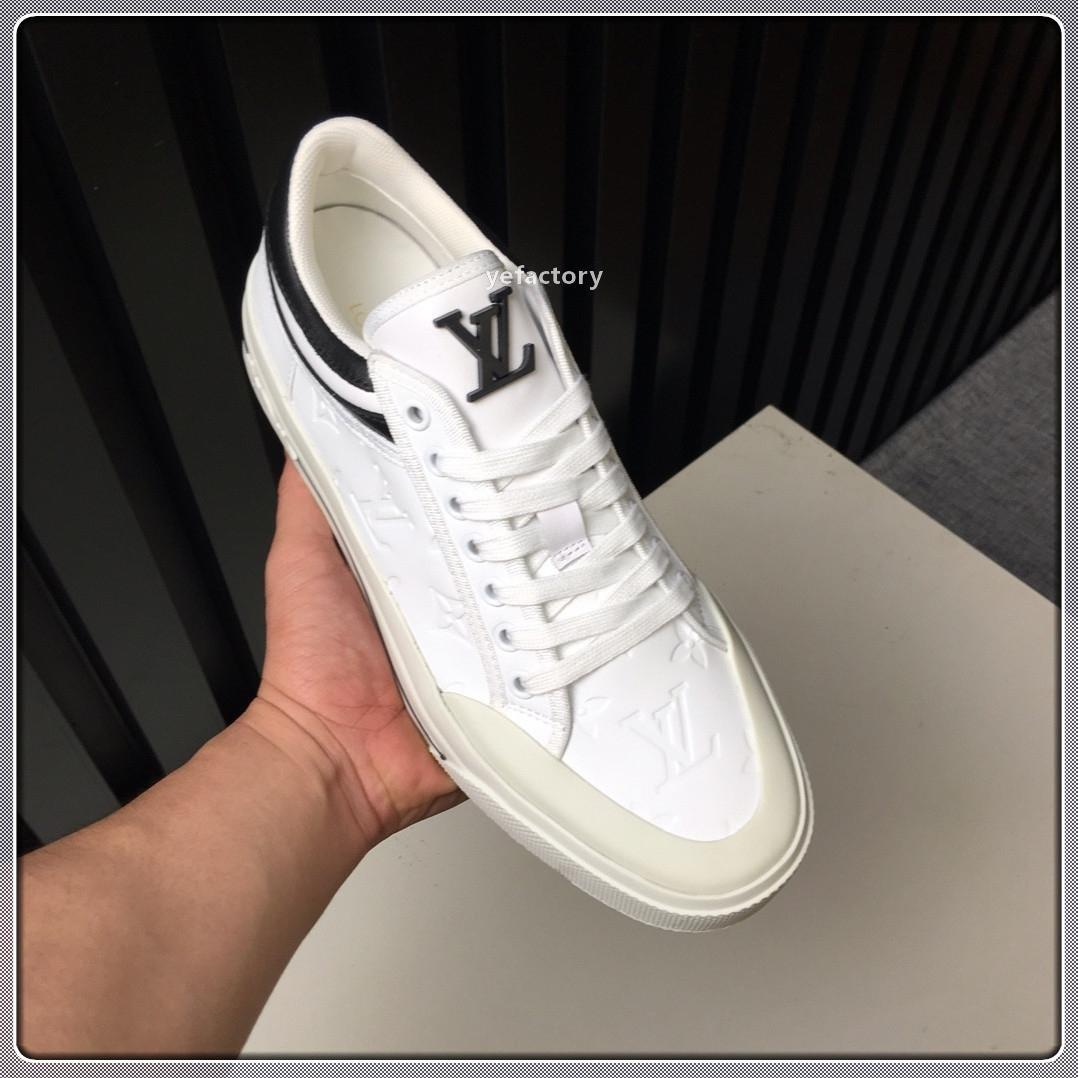 luxeconcepteur de dentelle occasionnels de la mode de luxe haut Y330men up chaussures de créateurs d'appartements hommes taille de boîte à chaussures d'origine 38-45