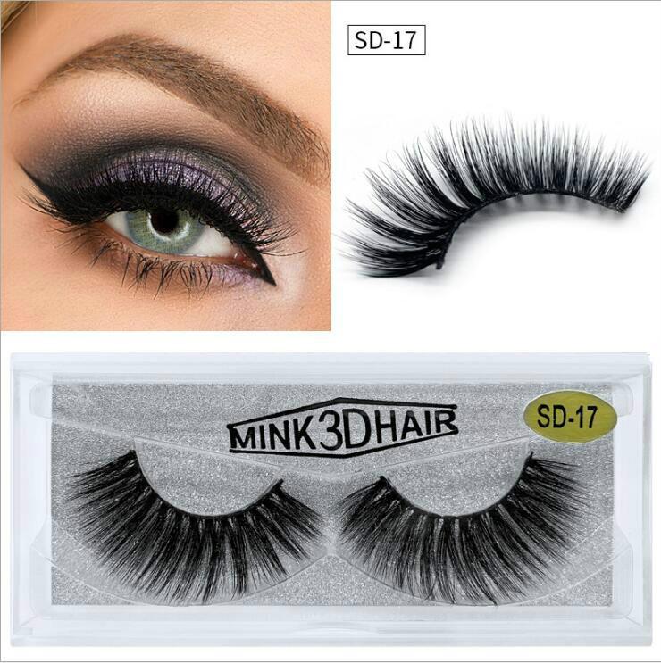 New Mink Eyelashes Makeup 100% Real 3D Mink Lashes Natural Thick False Eyelashes Eye Lashes Makeup Extension Beauty Tools Dramatic Eyelash
