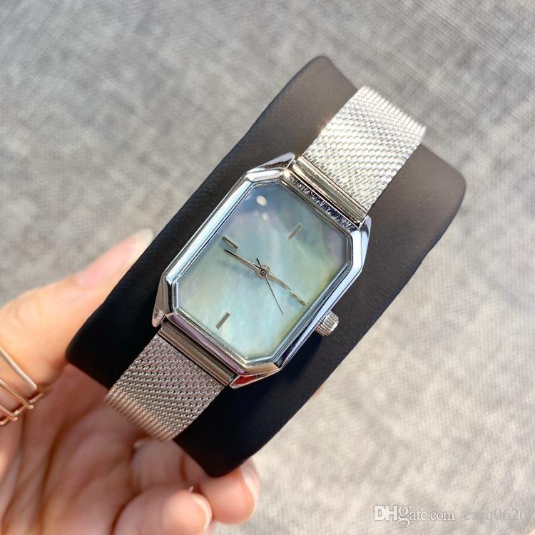 2020 Yüksek Kalite Lüks Tasarım İzle Yeni Kadın İzle Popüler Stil Dikdörtgen Arama Saat Kuvars Saatler Kadın Saat Relogio Montre Femme
