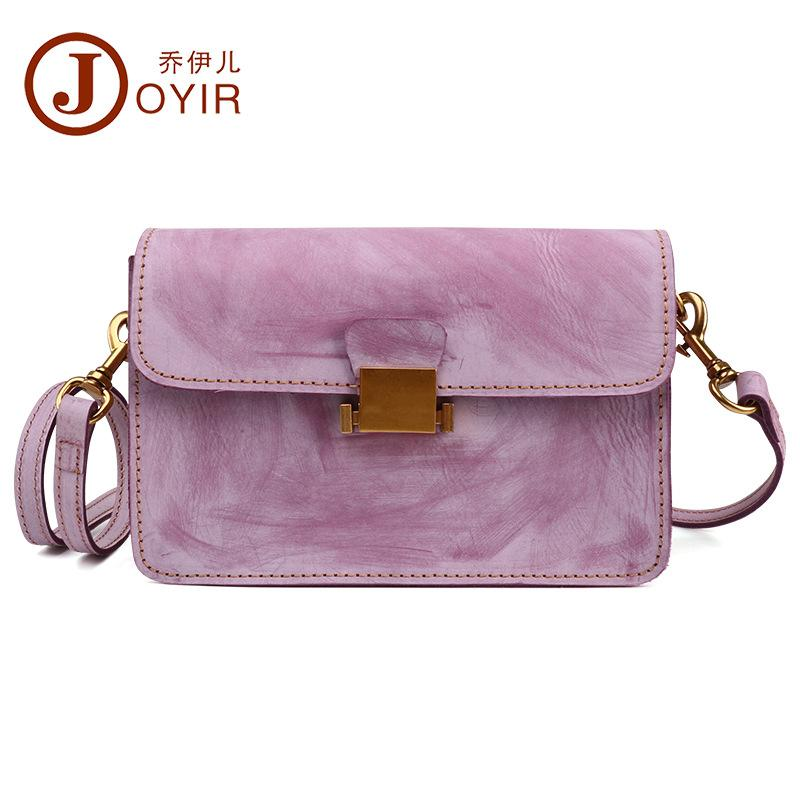 Мода туман восковое покрытие женские кожаные сумки посыльный квадратный слинг Сумка женская сумка через плечо