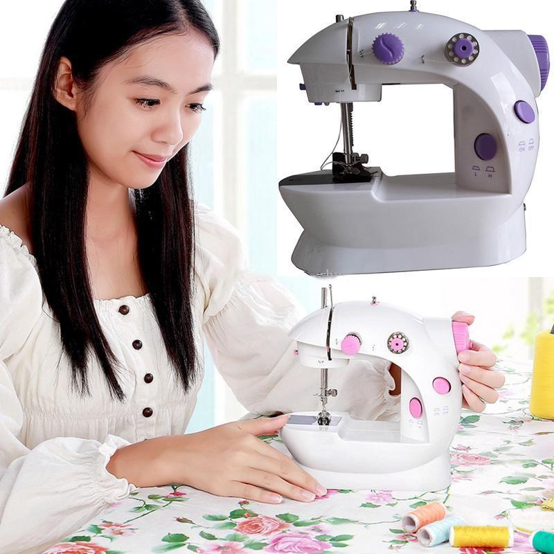 High Quality Sewing Machine Mini Electric Household DIY Handwork Sewing Machine Dual Speed With Power Supply Small Household Free DHL