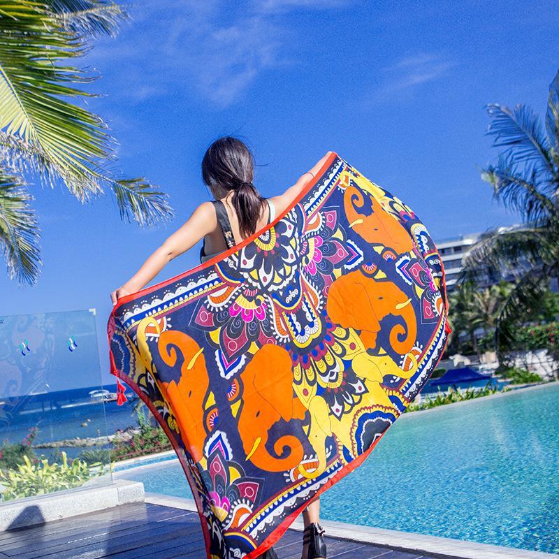 Luxury Beach Scarfs Shawls /Beach Shawl Wrap For Women / Ladies Fashion Summer Big Size Sarong Wrap Beach For Wholesale