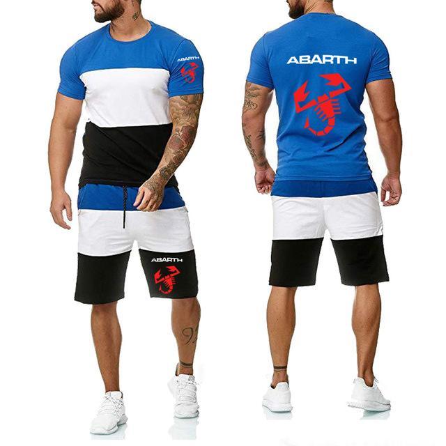 Nouveau 2020 pour Abarth voiture Logo Impression de haute qualité coton été cou Crew Mode Pantalons simple T-shirt pour hommes 2Pcs E répondent