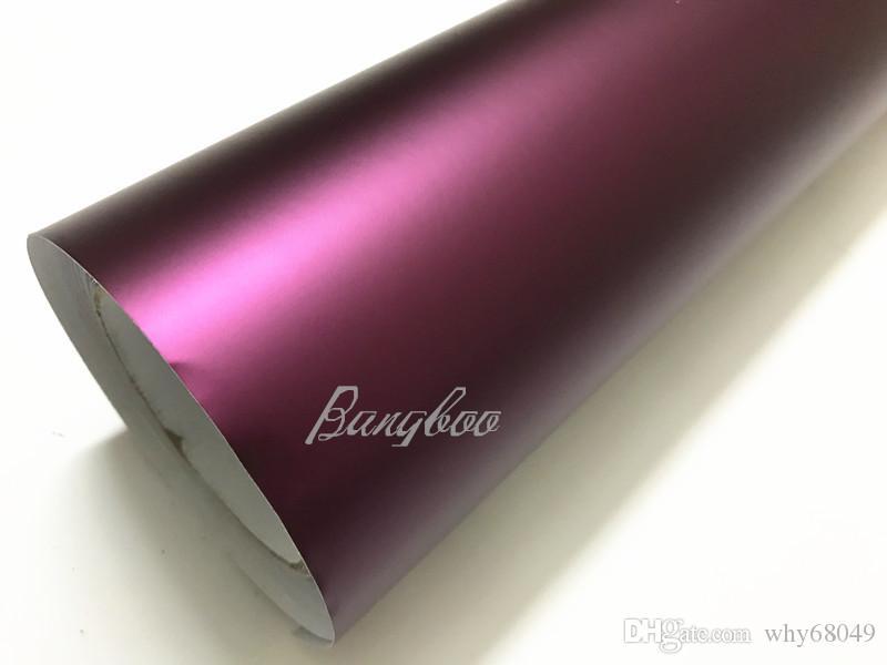 1.52x18m Air Bubble gratuit Chrome métal mat Full Body autocollant papier voiture Wrap Film vinyle