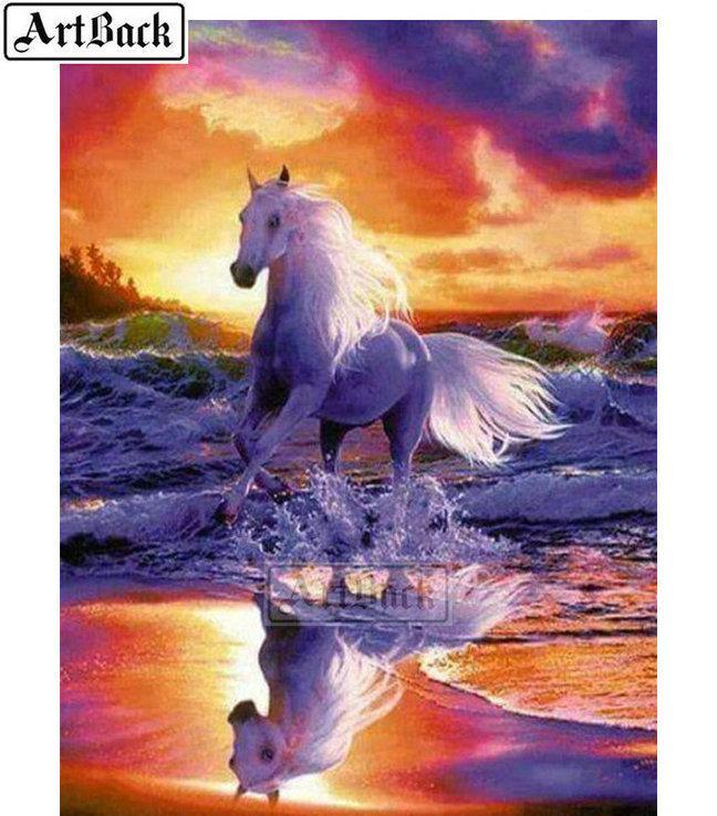 5d diy pintura diamante corriendo caballo cuadrado completo animal 3d diamante rhinestone resina mosaico de diamantes foto regalo