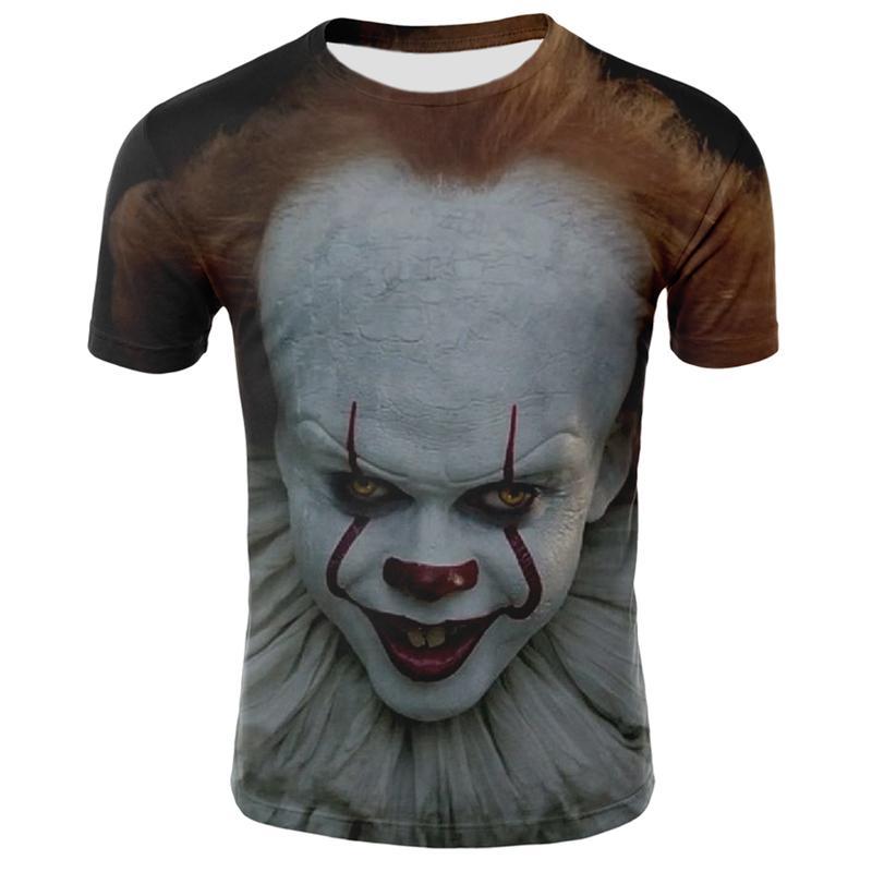 Sommer Clown 3D-Druck-T-Shirt für Männer Casual Kurzarm-T-Shirt mit wilden Joker gedruckt Herren-Hip-Hop Street