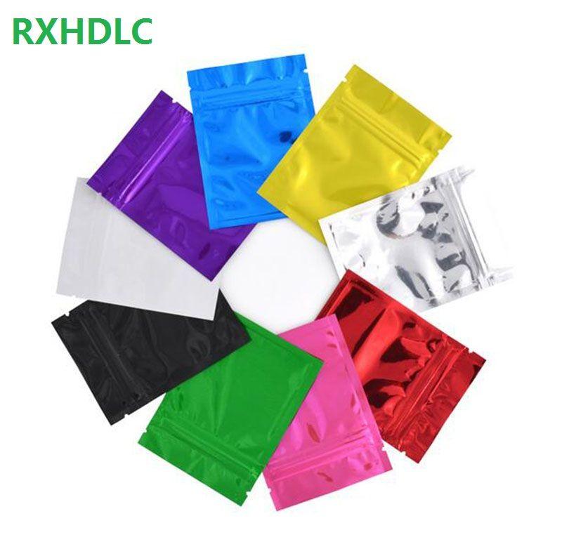 1000Pcs / Lot 7.5 * 10cm Reclosable Aluminium Foil Zip-Lock Beutel Games Verpackung Selbstdichtungs-Mylar-Ventil-Paket Taschen