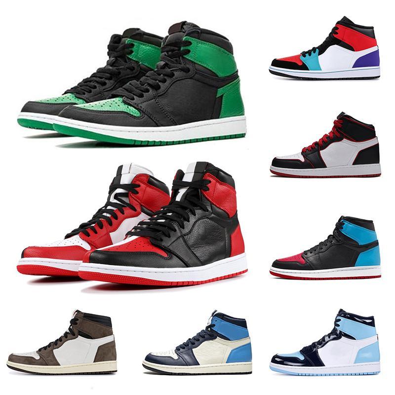 Compre Nike Air Jordan 1 Retro Moda Nuevo 1 Chicago Rojo Hombres Mujeres  Zapatos De Baloncesto 1s Azul Polvo UNC Mens Athletic Athletic Sport  Trainer ...
