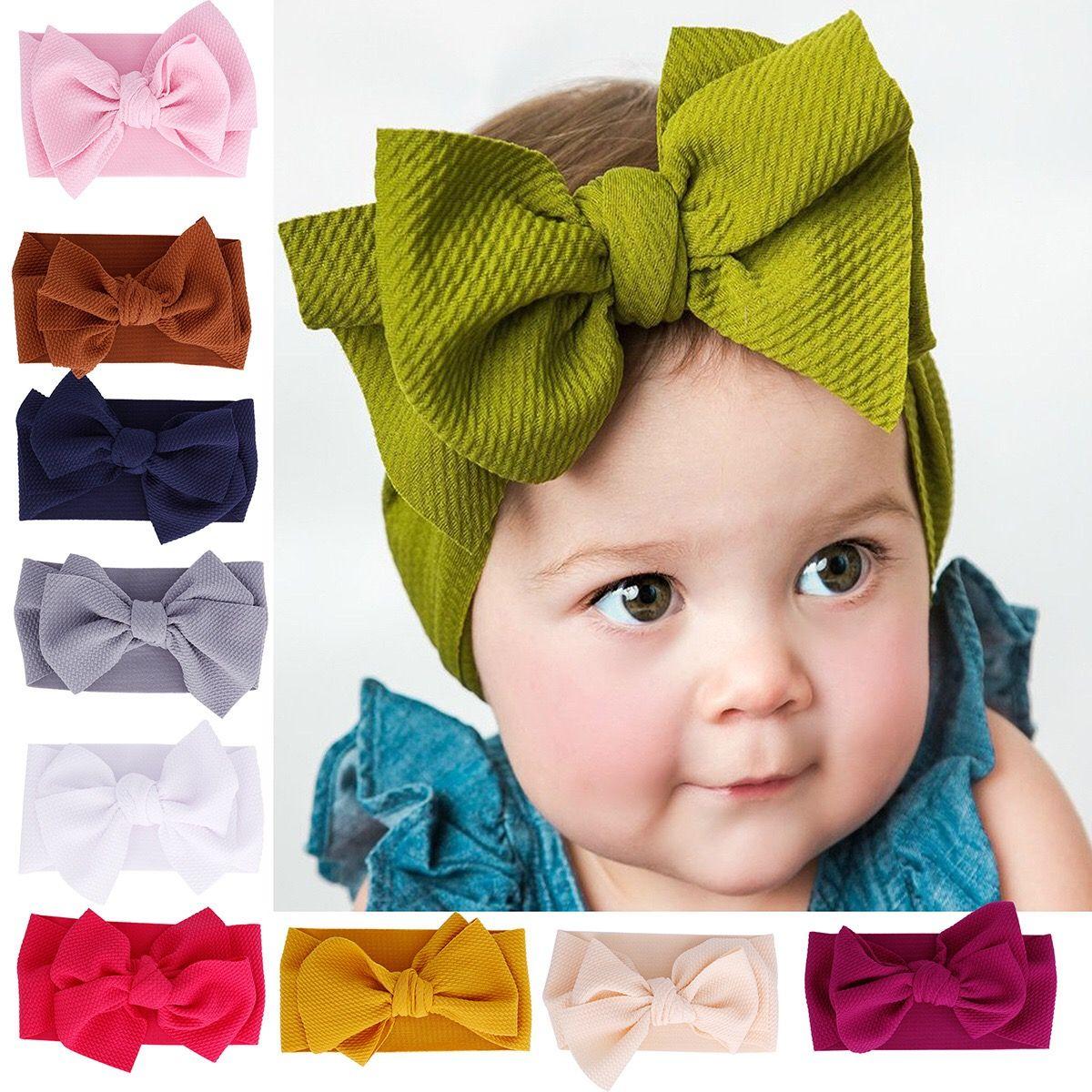 Baby Girls Kids Toddler Sweet Bow Knot Hairband Headband Stretch Cloth Head Wrap
